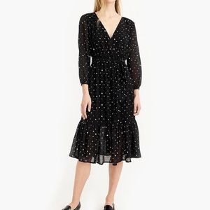 Point Sur wrap polka dot dress